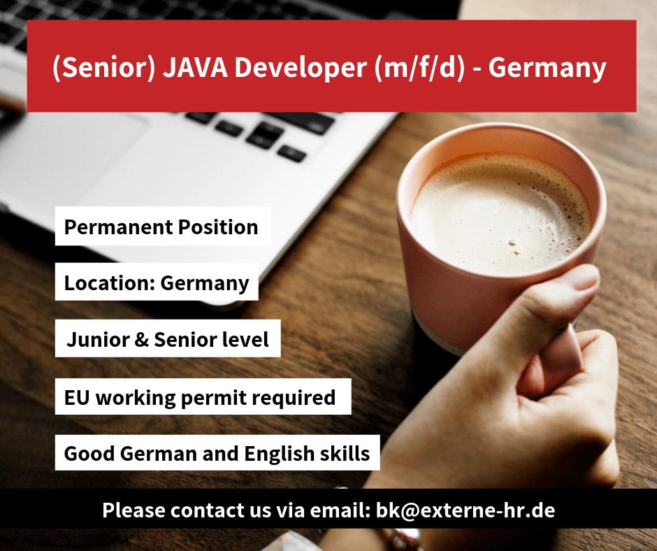 Jobs: (Junior / Senior) Software Developer JAVA (f/m/d